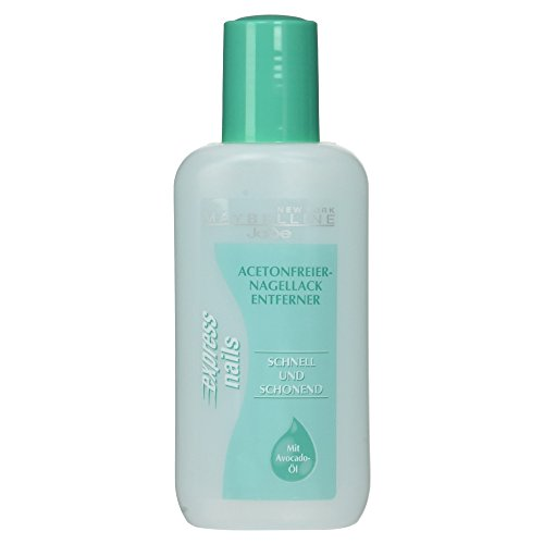 Maybelline Jade Nagellackentferner ohne Aceton, Pflegend, Express Nails, 125 ml
