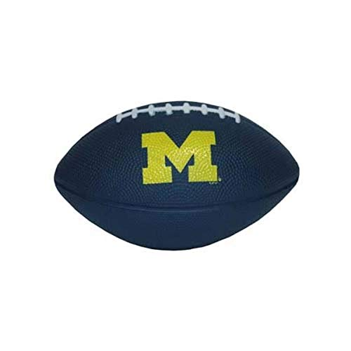 Game Day Outfitters NCAA Michigan Wolverines Football Foam Ball Blue with Yellow Logo, One Size, Multicolor