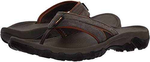 Teva Men's M Katavi 2 Thong Sandal, Black Olive, 12 M US