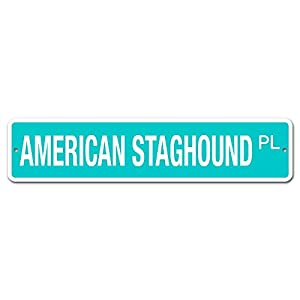 "Deerts 5093 SS American Staghound 4"" x 18"" Novelty Street Sign Aluminum 1"