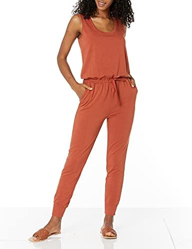 Amazon Essentials Women's Studio Terry Jumpsuit, Terracotta, X-Small