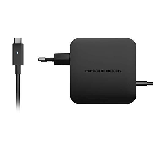 Porsche Design Alimentatore di rete universale USB Type-C da 60 Watt (notebook, smartphone, UVM) con Power Delivery 2.0 e supporto per Quick Charge – 2 metri di cavo – spina EU – Nero