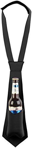 infactory Bierkrawatte: Krawatte mit integriertem Bierhalter, für 0,33-l-Flaschen geeignet (Flaschenträger)