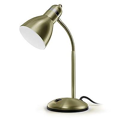 LEPOWER Metal Desk Lamp, Adjustable Goose Neck Table Lamp
