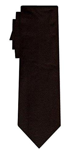 Cravate soie unie solid black