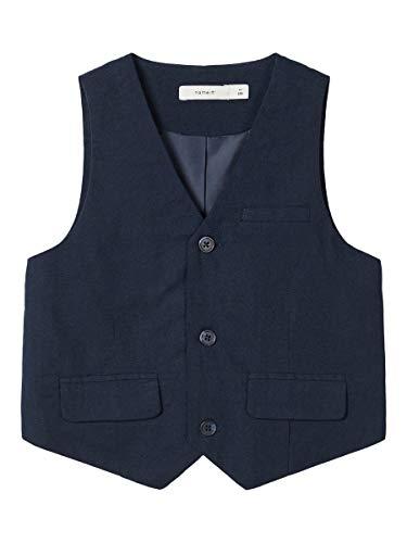 NAME IT Jungen Anzug-Weste NMMFALCON Waistcoat, Größe:116, Farbe:Dark Sapphire