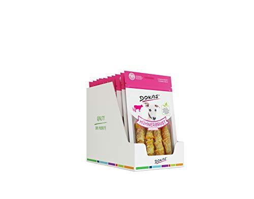 dokas Getreidefreier Premium Kausnack mit Hühnerbrust für Hunde , Ideal für zwischendurch