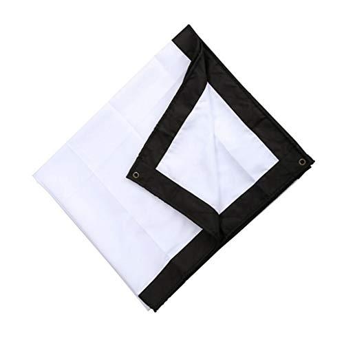 Yousiju Proyector Plegable 16: 9 60/70/84/100/120 Pulgadas Pantalla de proyección Exterior Blanca Pantalla de proyector de TV para el hogar (Size : 120 Inch)