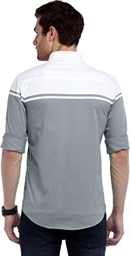 IndoPrimo Men's Classic Fit Casual Shirt