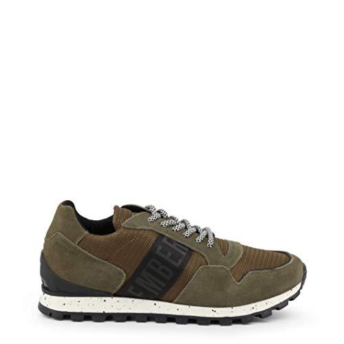 Bikkembergs Fend-ER 2356 Sneaker Uomo, Verde (Military Green/Black 930) 44 EU