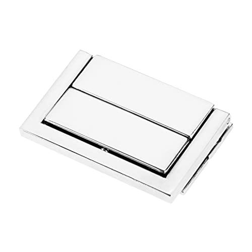 Las bisagras ornamentadas 1pc 48 * Caja de 30 mm con pestillo de la puerta del interruptor de bloqueo HASP, usado para la caja de joyería Maleta de la maleta con la hebilla del clip de los muebles de
