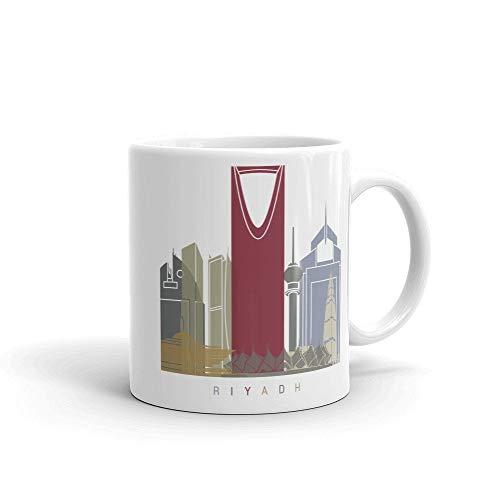 Riyadh Arabia Saudita Taza de café, idea de regalos para el hogar, taza de té, regalos de Acción de Gracias, regalo de Navidad, 15 onzas