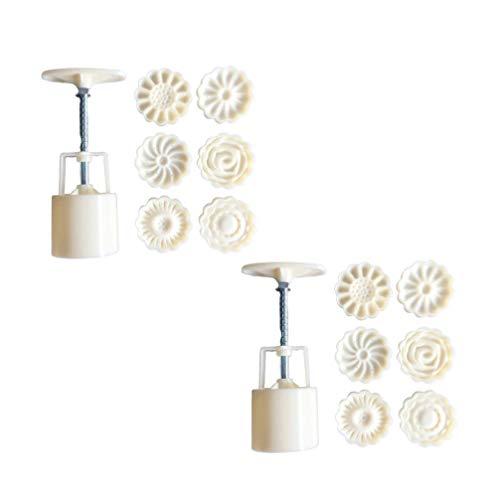 SUPVOX Juego de 2 moldes de galletas a presión manual para repostería, kit para moldes para bombas de baño, accesorios para la cocción y fabricación de herramientas para bombas de baño