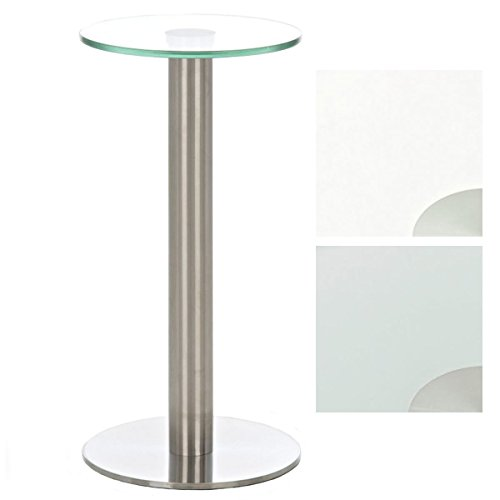 CLP Mesa de cristal con un soporte de acero inoxidable, Diámetro Ø...
