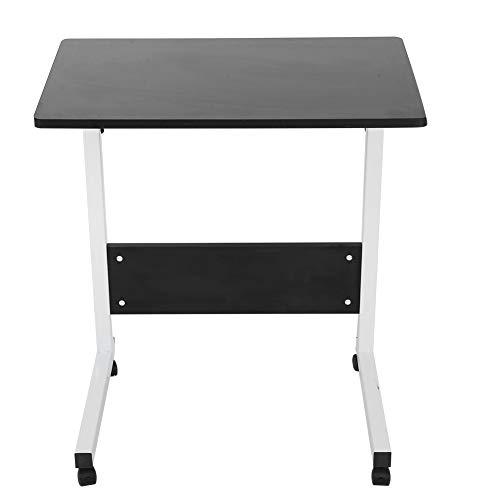 Mesa de ordenador, con diseño elegante y respetuoso con el medio ambiente, con gran capacidad de carga, escritorio elevador, diseño ajustable de 4 ruedas para el hogar