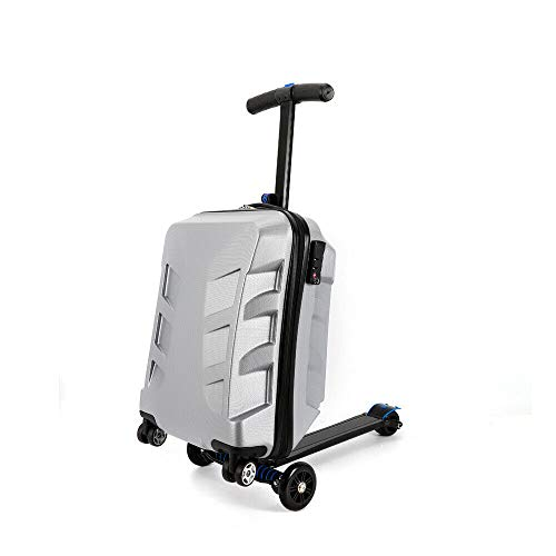 Scooter Luggage - 21'Pedal Suitcase Rolling Luggage cart Folding Scooter Hard case Trolley, Kick-Board, Suitcase and Trolley
