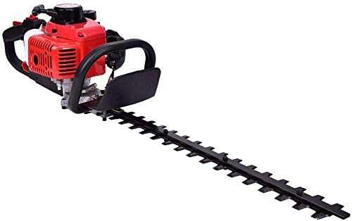 """Adasea 23.6cc Gas Hedge Trimmer 24"""" 2-Cycle Recoil Gasoline Trim Blade Blade Double-Sided with Safety Gloves and Some Accessories"""