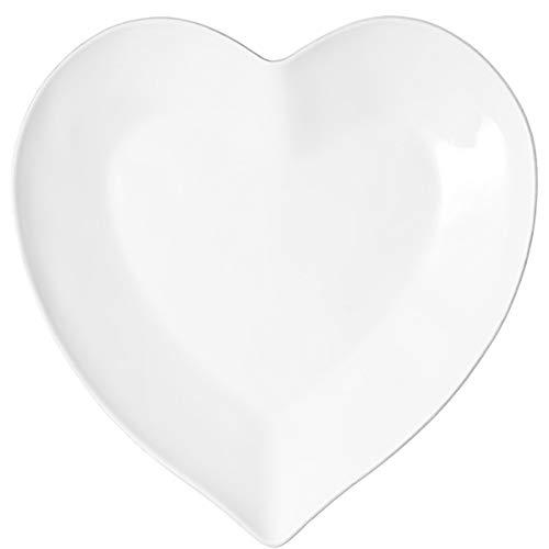 BUTLERS Heart Herzteller 28 cm - Romantisches Geschirr aus Porzellan, Weiß - Servierteller, Dessertteller, Snackteller