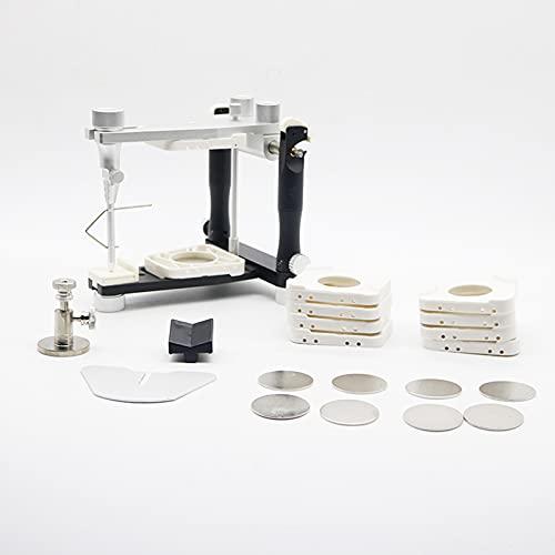 1 Juego de Herramientas de articulador de Laboratorio Dental, articulador de Estilo magnético, Instrumentos de Laboratorio, Equipo Ajustable, articulador de dentadura postiza