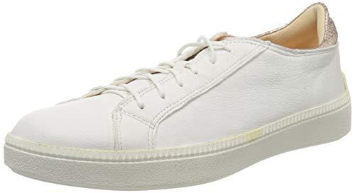 Think! Damen 686040_TURNA Sneaker, Weiß (Bianco/Puder 06), 42.5 EU