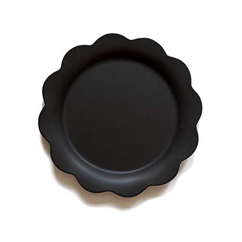 YUWANW Fleur Créative Assiette Plate En Céramique Western Plat Pâtes Steak Salade Bol Soupe Bol Petit Déjeuner Bol Assiette À La Maison Plat, Fleur Noire Assiette Plate # 67