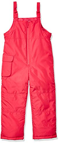 LONDON FOG Girls' Little Classic Snow Bib Ski Snowsuit, Pink Fusion, 6X