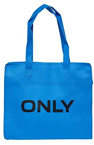 ONLY TASCHE Shopping Bag Umhänge Shopper Einkaufs Schulter Tasche Neu (blue aster)