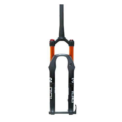 VPPV Forcella MTB 27,5 29 Pollici Telecomandata, Cannotto Conico 1-1/2' Mountain Bike Forcella di Controllo Corsa 120 mm (Colore : Shoulder Lock, Size : 27.5 inch)