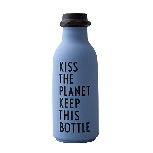 Design Letters to GO Wasserflasche 500 ml (Blau)