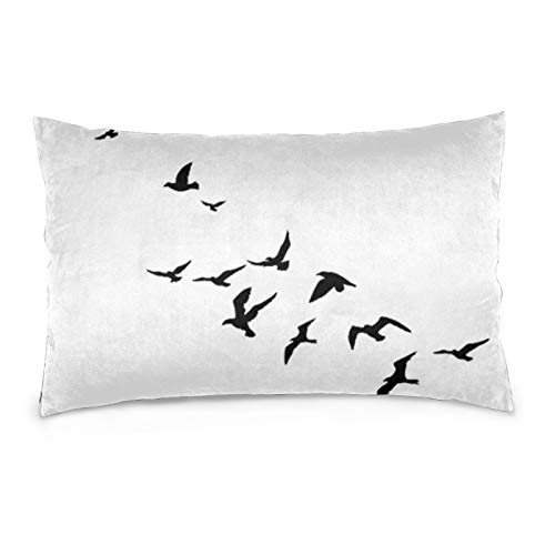 VVSADEB Funda de almohada de ganso salvaje 50 x 70 cm, funda de almohada con cremallera, suave y acogedora, arrugas, tamaño estándar 1 paquete