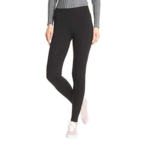 HUE-Every-Day-Leggings-Wide-Comfortable-WaistbandUltra-Soft-Cotton-Mid-Rise-2-Pack