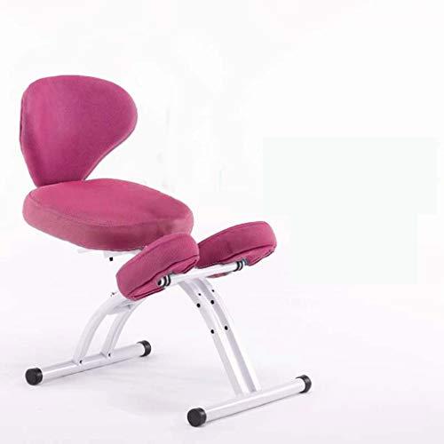 LIUBINGER Drehbarer Bürostuhl Kinder Study Stuhl, Anti-bucklige Korrektur Sitzhaltung Stuhl Kniend, Abhebbarer Student Schriftlich Stuhl Mit Rückenlehne (Color : Pink)
