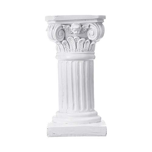 7.49inch Roman Pillar Greek Column Statue Resin Pedestal Stand Figurine Sculpture Sand Table Game Decor Indoor Outdoor Home Garden Decoration