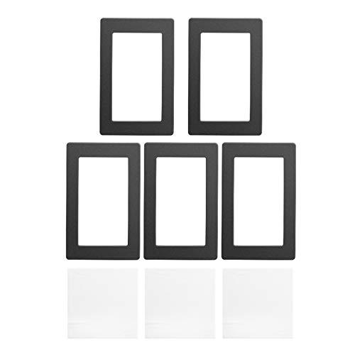 Kiboule 5 Stück 6,5 x 4,1 Zoll Schutz vor Verschütten von Harz mit staubfreien Tüchern Schwarze LCD-Dichtung, Kompatibel mit Wanhao D7 Anycubic Photon Photon-S 5,5-Zoll-LCD-Harz-3D-Drucker