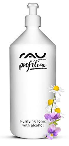 RAU Purifying Tonic with alcohol 1000 ml PROFILINE - Lotion tonique visage avec du zinc, de l'urée, de la camomille et l'extrait de pensée. pour les peaux grasses à imperfections.