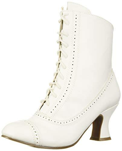 Ellie Shoes Women's 253-SARAH Mid Calf Boot, White, 9 M US