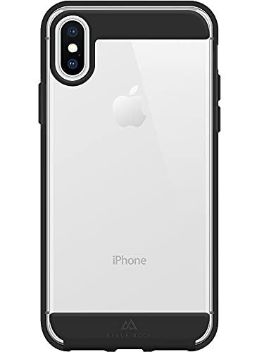 Black Rock - Hülle Air Robust Hülle passend für Apple iPhone XS/X I Handyhülle, Transparent, Durchsichtig, Dünn (Schwarz)