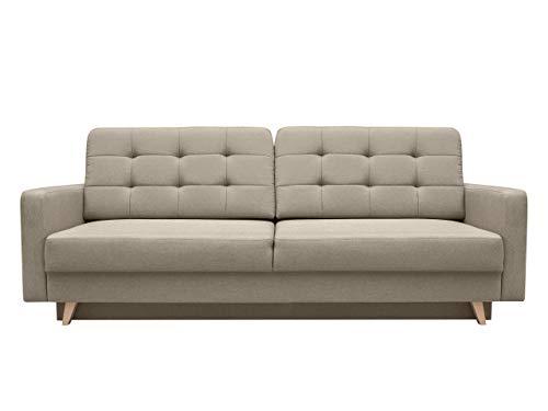 Modernes Sofa Vegas mit Schlaffunktion und Bettkasten, Farbauswahl, Design Couch, Lounge Schlafsofa, Polstersofa, Polstergarnitur, Polstercouch (Sawana 27)