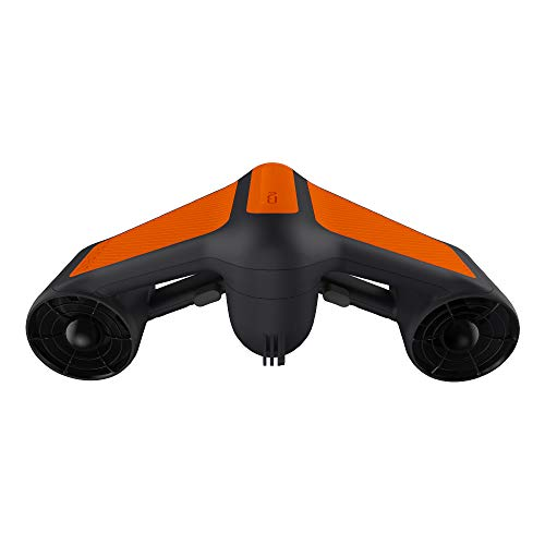 G GENEINNO Underwater Scooter Dual Propellers with 2-Speed Compatible with GoPro Orange