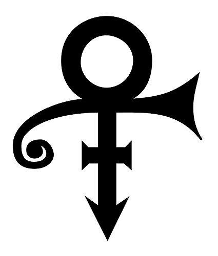 So Cool Stuff Prince logo–Adesivo in vinile per tablet skateboard auto Windows stickers viola Raissa metallizzate 4' inches