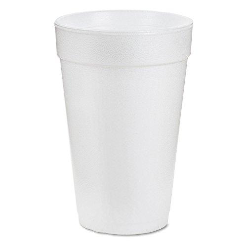 Dart 20J16 3.7' Top & 2.4' Bottom Diameter, 6.1' Height, Big Drink Foam Cup, 20 oz, (1 Pack of 25)
