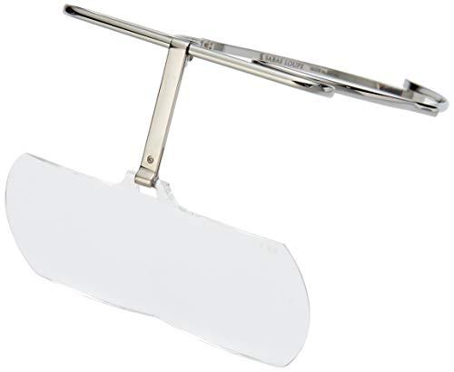 [さばえルーペ] メガネ型ルーペ さばえルーペ シルバー 倍率1.6(FREE サイズ)