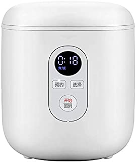 SHAAO 1.2L Rice Cooker Mini Electric Cooker Smart Multicooker Non-stick pan Supports Appointment Timing with LCD Display