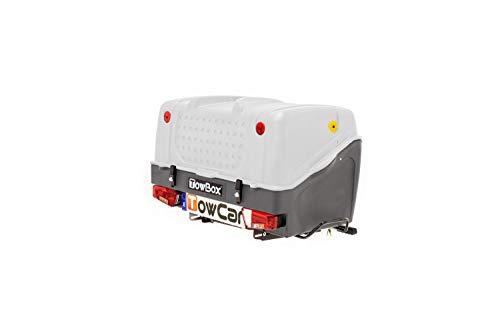 Towbox V1 Gepäckbox für Anhängerkupplung | Grau | Transportbox | Gepäckträger