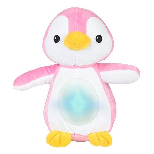 WinFun Pinguin Kuscheltier Einschlaftier Baby Einschlafhilfe mit Licht Melodien rosa
