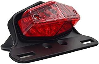 Blanc Moto arri/ère 6 LED plaque dimmatriculation frein feu arri/ère lampe plaque dimmatriculation pour Honda Yamaha Harley Kawasaki Suzuki BMW Cruiser Atv
