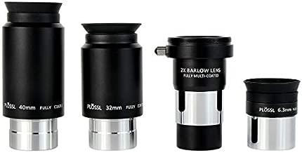 SVBONY Telescope Eyepiece Set Telescope Accessory Kit with 2x Barlow Lens 4 Element Plossl Design 6.3mm 32mm 40mm for Astronomical Telescopes