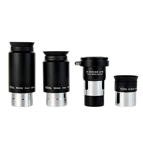 SVBONY Telescope Eyepiece Set Telescope Accessory Kit with 2x Barlow Lens 4...