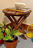 This product does not have to assemble requirements. Antique Foldable table, easy to carry anywhere. A perfect gift item for you This multipurpose table can be used for any showpiece on it Product Dimension L x B X H - (12 x 12 x 12) inch Mango wood ...