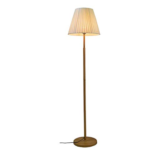 Stehlampe Moderne Stehleuchte mit Plissee Lampshade warmen Licht Stehleuchte mit schweren Sockel Hohen Pole-Lampe for Wohnzimmer Schlafzimmer Stehleuchte (Color : Beige, Größe : 63